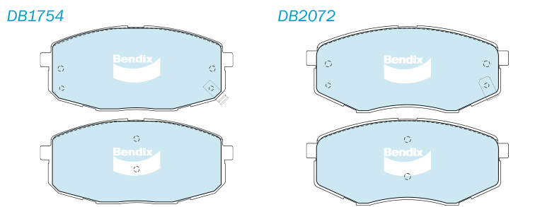 using db2072 on the larger 300mm rotor instead of its proper 280mm rotor  will mean the pad cannot sweep the full width of the rotor's braking  surface
