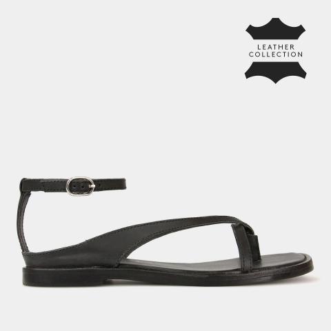 RAE Leather Square Toe Sandals