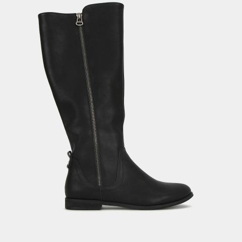 ELORA Low Heel Calf Height Boots