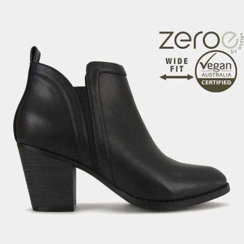 WIDE FIT FIONA Vegan Heel Boots