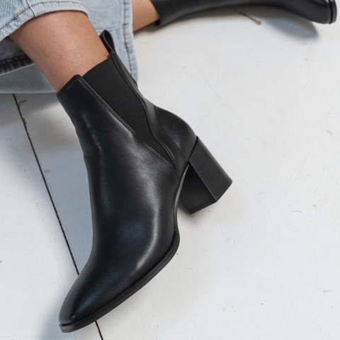 CHARLIE Mid Heel Ankle Boots