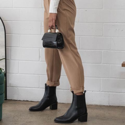LUXE Block Heel Chelsea Boots