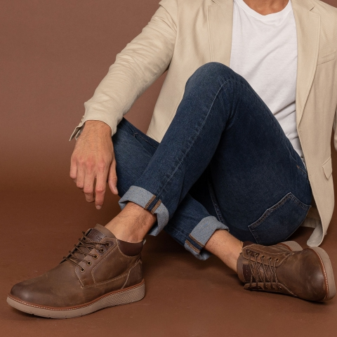 OSLO Leather Lace Up Casual Boots