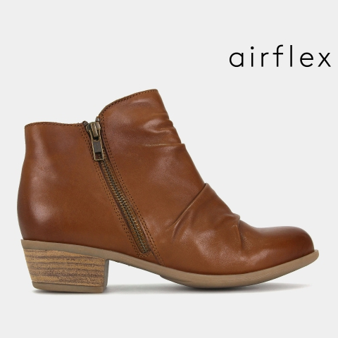 KAREN Leather Comfort Ankle Boots