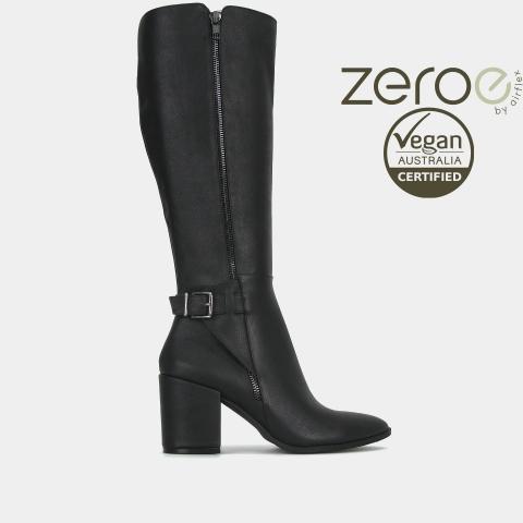 CREST Vegan Block Heel Boots