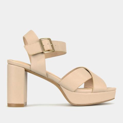 BURROW Platform Mid-Heel Sandals