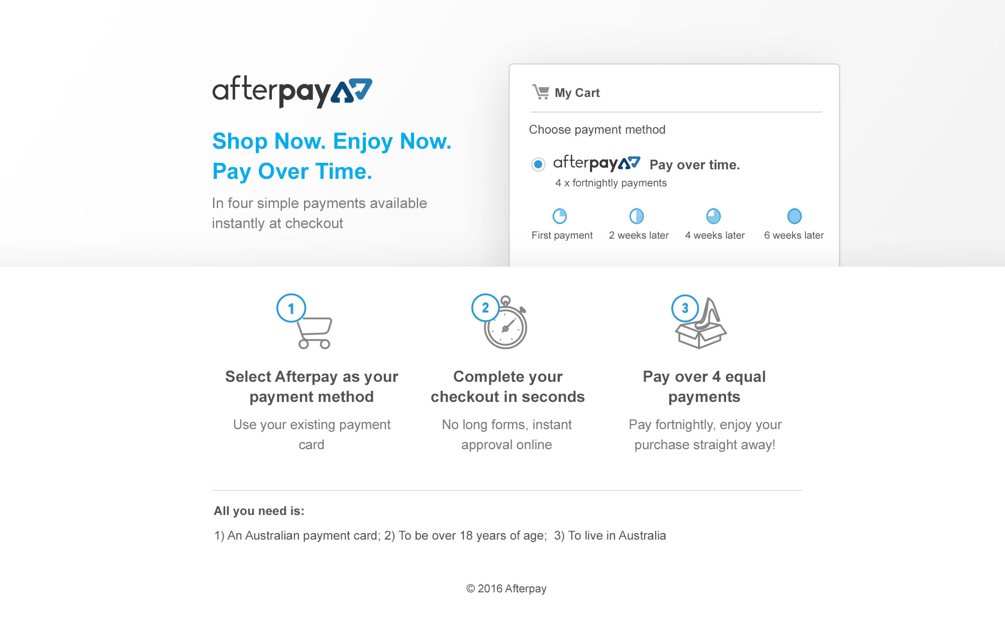 AfterPay More Info