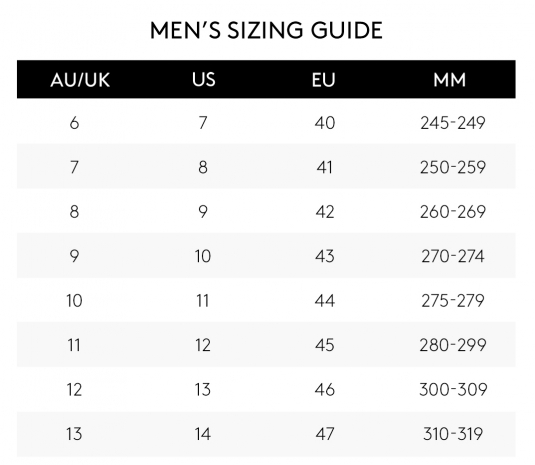 Sizing Guide Buy Shoes Online Australia Wide Betts