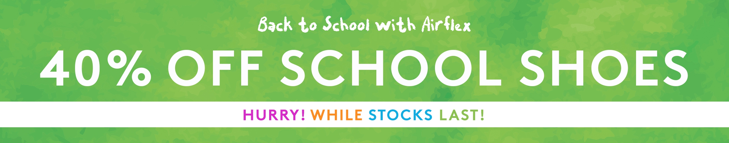 40% Off School Shoes