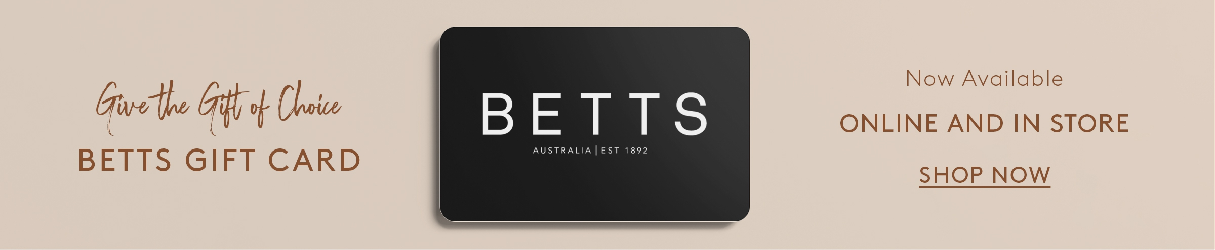 BETTS | Online Gift Card | hmpg banner 2400 x 495