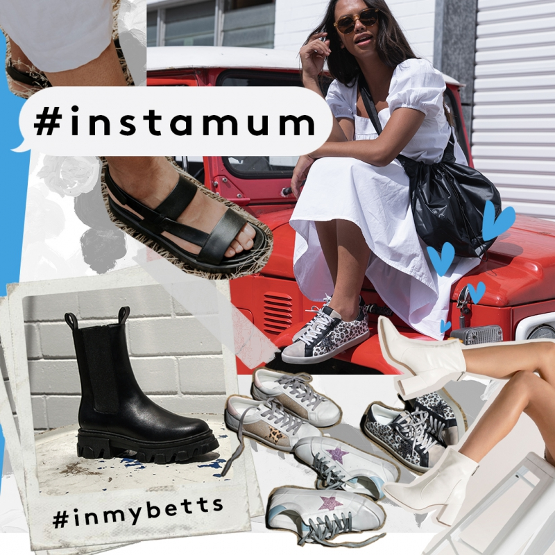 Insta Mum - Instagram & Fashion Forward Shoes - Mother's Day Chunky Boots & Glittered Sneakers