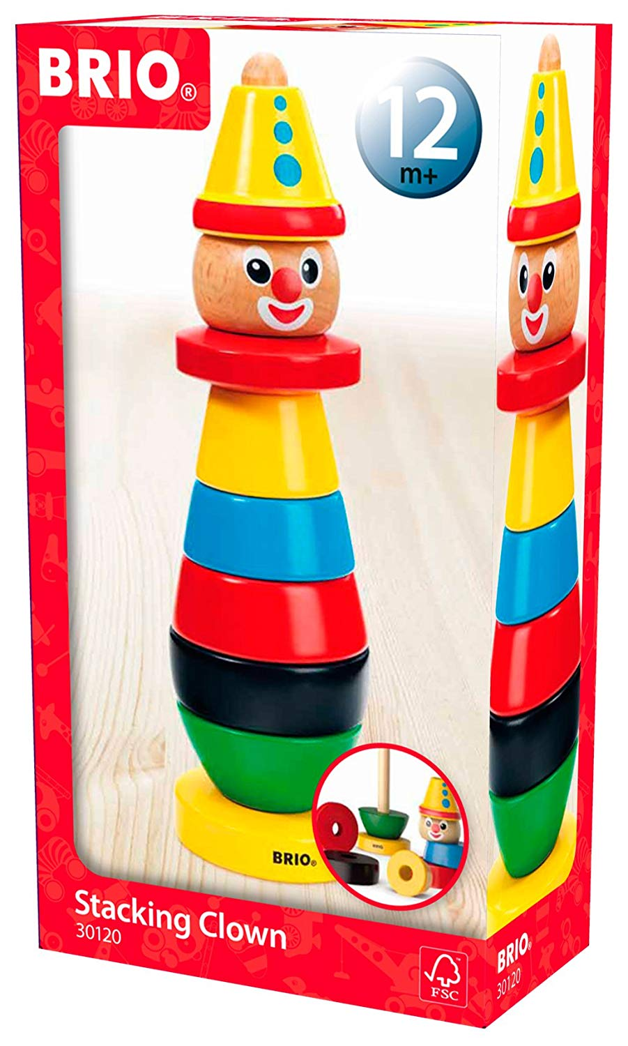 BRIO Infant & Toddler – Stacking Clown