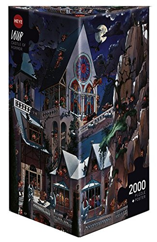 Heye Puzzles – Triangular , 2000 Pc – Castle of Horror, Loup
