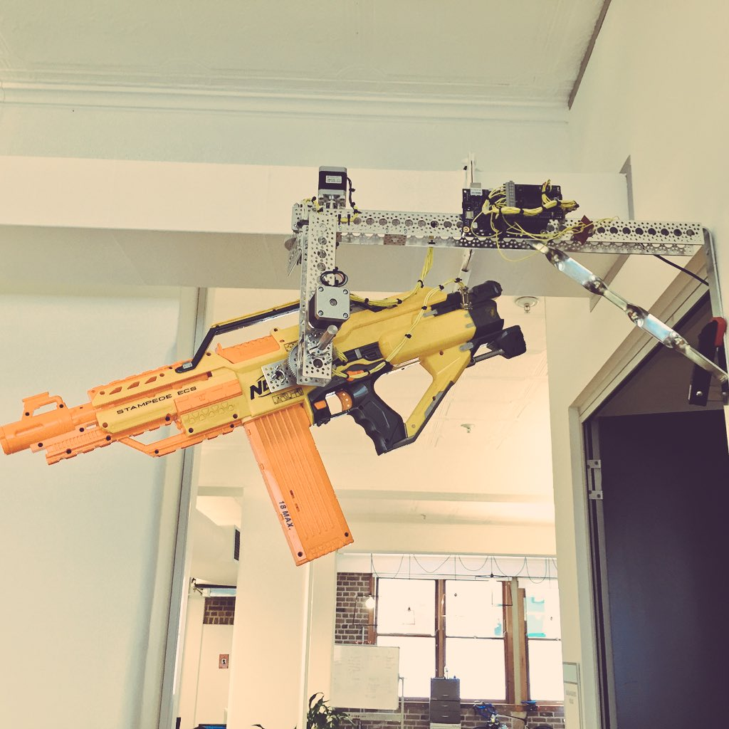Introducing The Automated Nerf Turret Mount At The Sydney