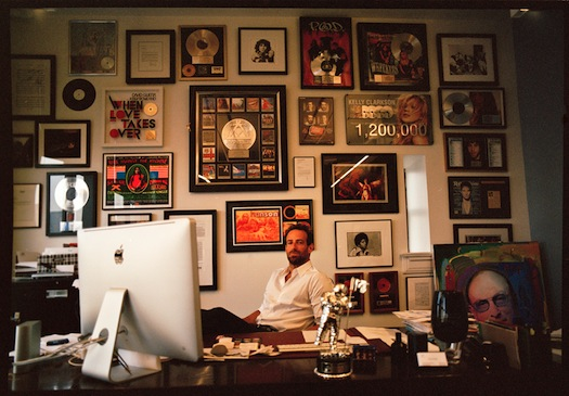 Record label boss in office