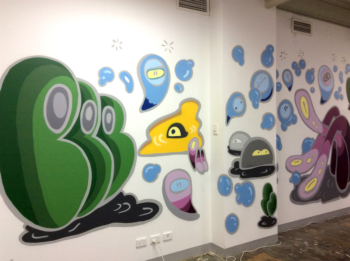 BlueChill Melbourne Graffiti Wall