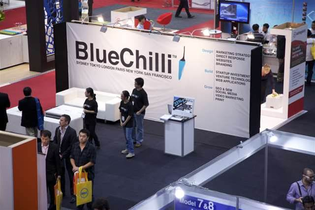 The Cebit Conference where the BlueChilli logo was unveiled