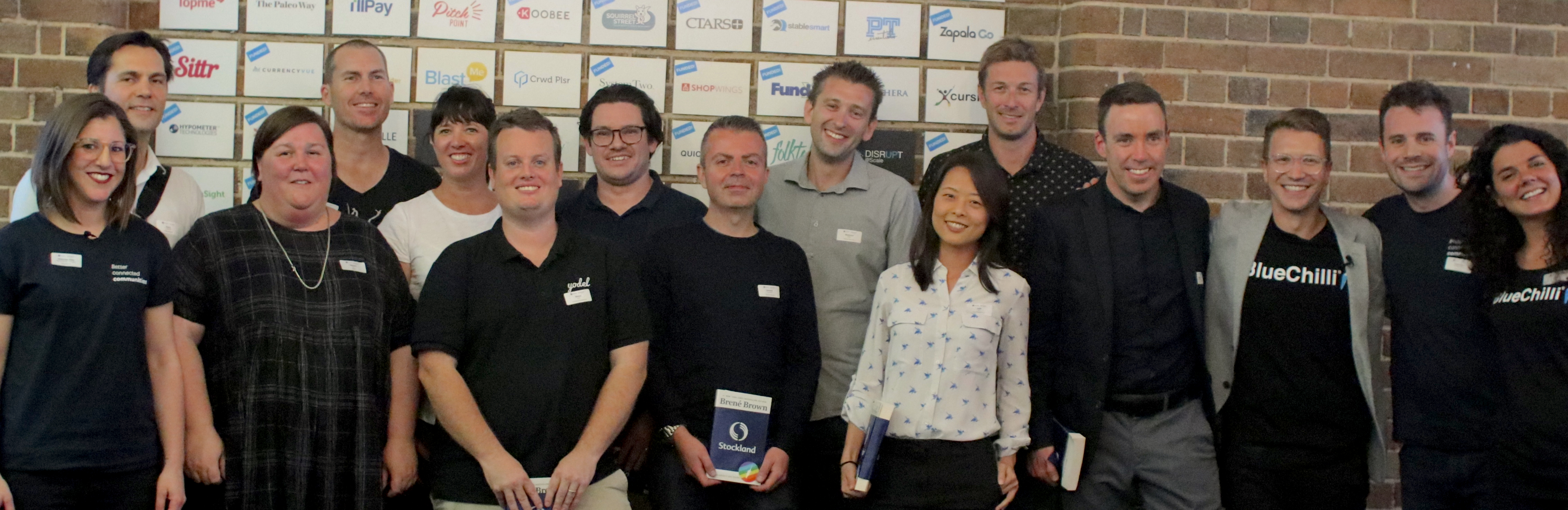 Stockland Accelerator participants - more founders attended event online.