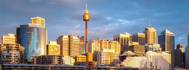 Sydney NSW - City Skyline Sydney Tower