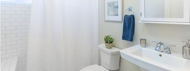 Bathroom in investment property to show plant and equipment deductions