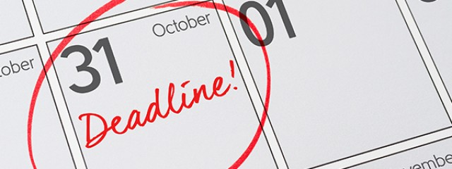 31 October Deadline