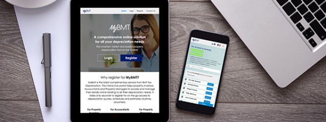 MyBMT on a tablet and phone