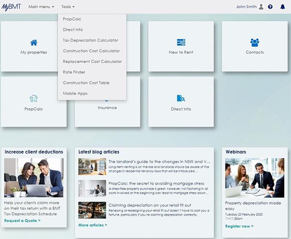 Homepage - tools