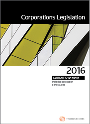 Corporations Legislation 2016