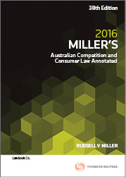 Miller's Aust Comp & Cons Law 38e 2016