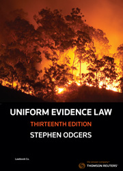 Uniform Evidence Law 13e - Book