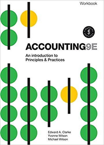 Accounting - An Introduction to Principles and Practice Workbook with Online Study Tools 12 months