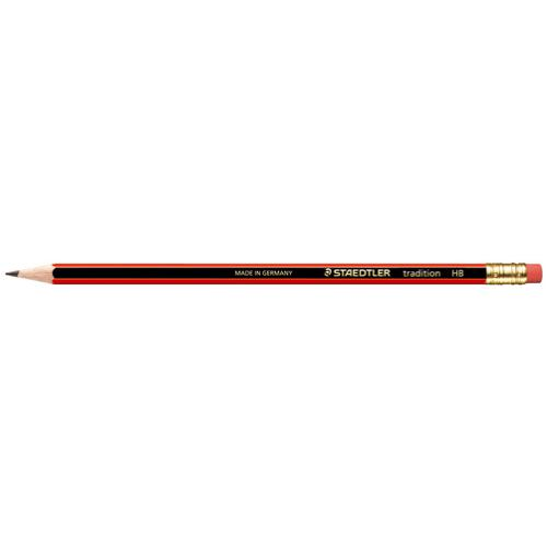 Staedtler 112 Tradition Pencil HB Eraser Tipped Box 12