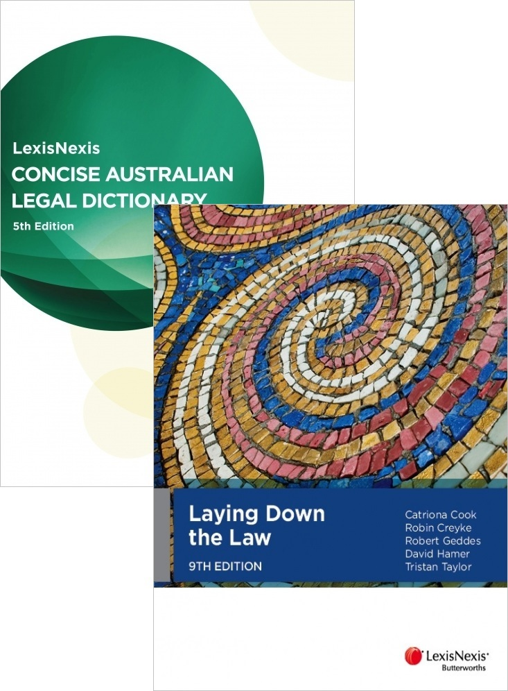 Laying Down the Law (9th ed) + Concise Australian Legal Dictionary (5th ed)