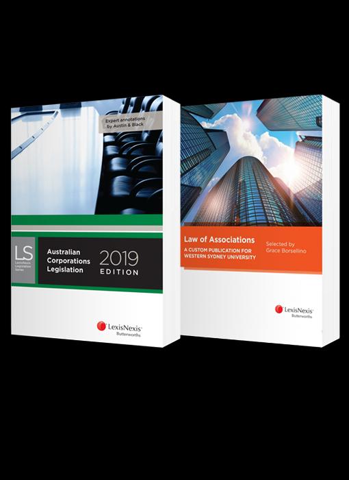 Law of Associations: A Custom Publication for Western Sydney University and Australian Corporations Legislation, 2019 edition (Bundle)