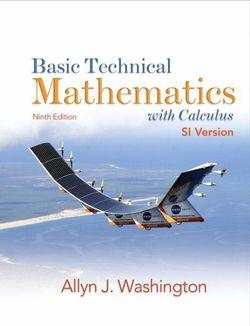 Basic Technical Mathematics with Calculus SI Version