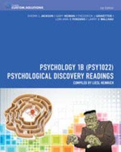 Bundle: CP0912: Psychology 1B (PSY1022): Psychological Discovery Readings + Aplia Notification Card