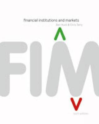 Financial Institutions & Markets with Online Study Tools 12 months
