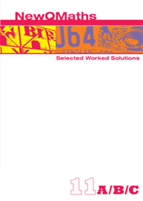 New QMaths 11 Selected Worked Solutions PDF eBook on DVD