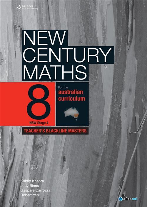 New Century Maths 8 Teachers Blackline Masters