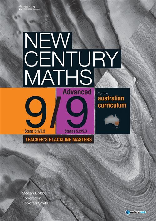 New Century Maths 9 Advanced Teacher's Blackline Masters