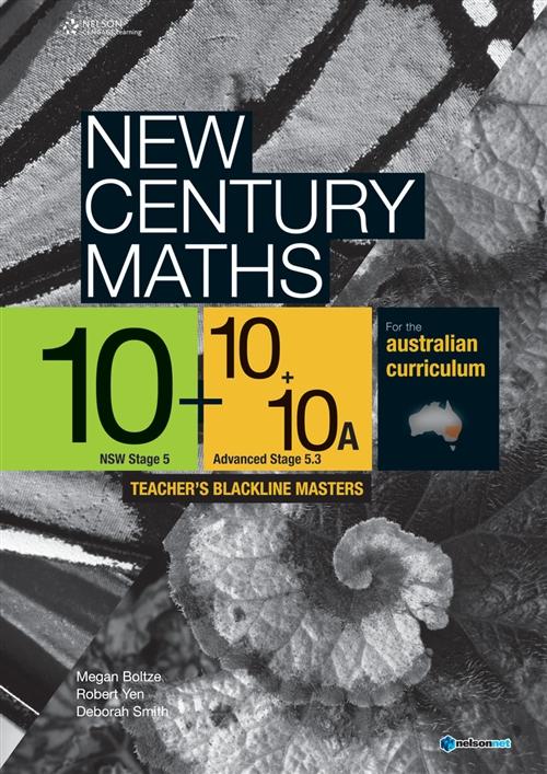 New Century Maths 10/ 10 + 10A Teacher's Blackline Masters