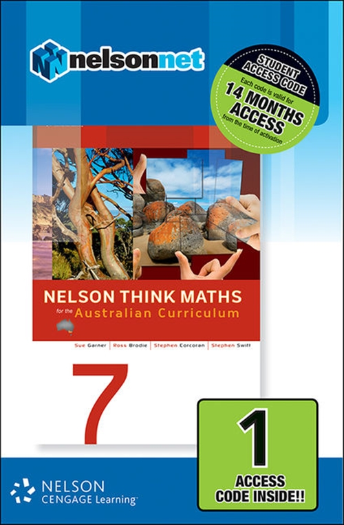Nelson Think Maths 7 for the Australian Curriculum (1 Access Code Card)