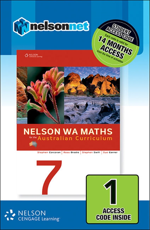 Nelson WA Maths 7 for the Australian Curriculum (1 Access Code Card)