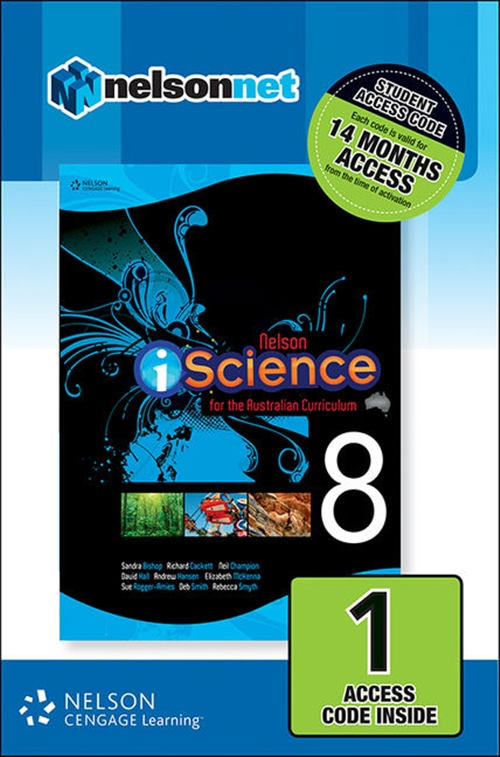 Nelson iScience for the Australian Curriculum Year 8 (1 Access Code  Card)