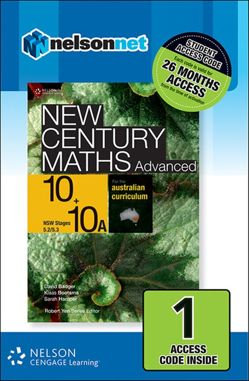 New Century Maths Advanced 10+10A for the Australian Curriculum NSW (1  Access Code Card)