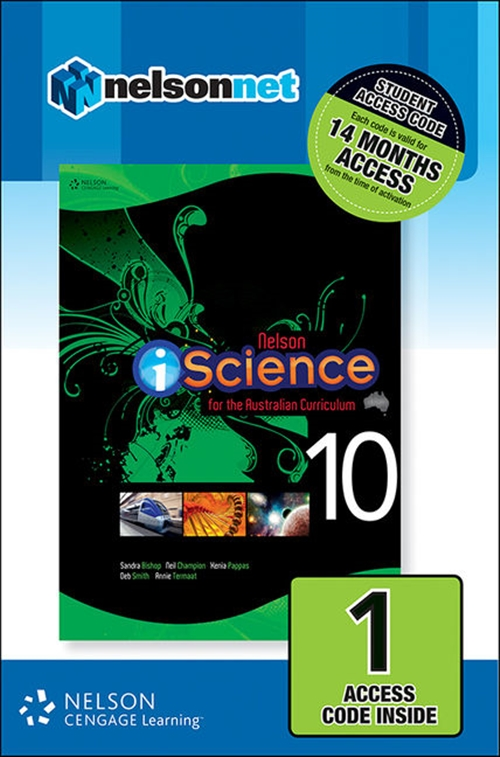 Nelson iScience Year 10 for the Australian Curriculum (1 Access Code  Card)