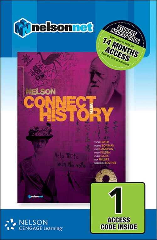Nelson Connect with History Year 9 for the Australian Curriculum (1  Access Code Card)