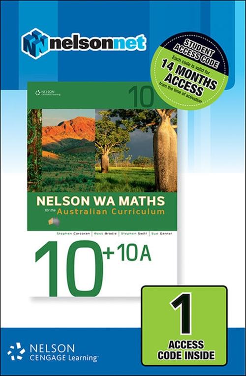Nelson WA Maths 10+10A (1 Access Code Card)