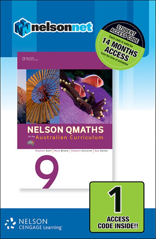 Nelson QMaths 9 for the Australian Curriculum (1 Access Code Card)