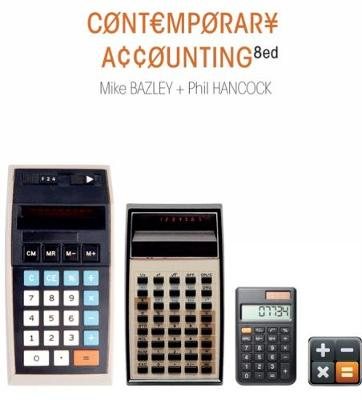 Contemporary Accounting with Online Study Tools 12 months